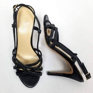 Kate Spade Sparkly Strappy Sling Back Heels